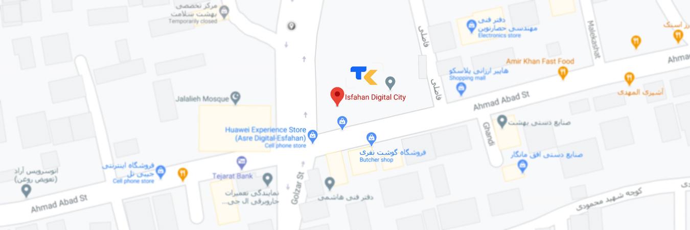 نقشه آدرس شرکت تکتا بازرگانان برنا